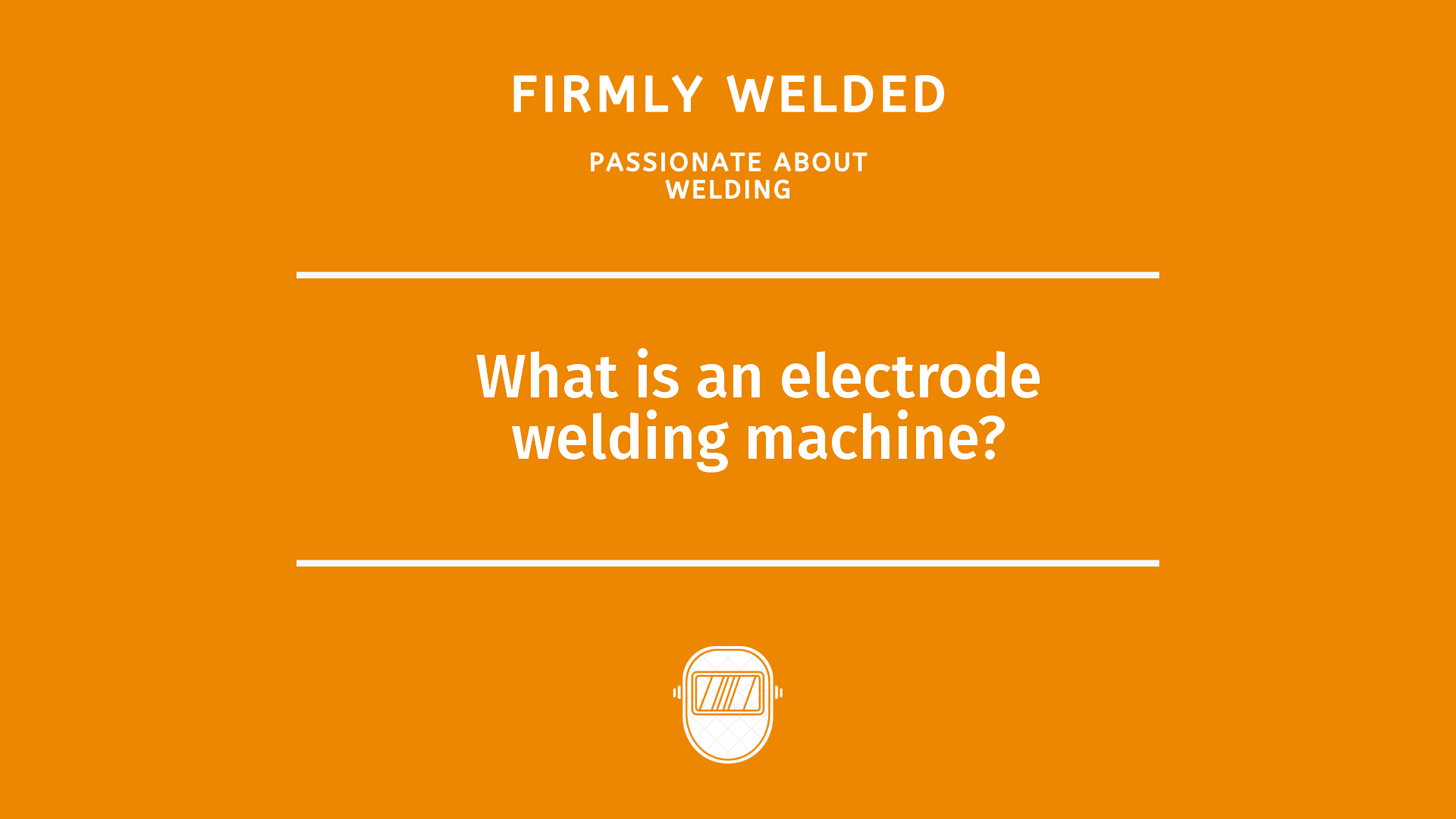 What is an electrode welding machine?